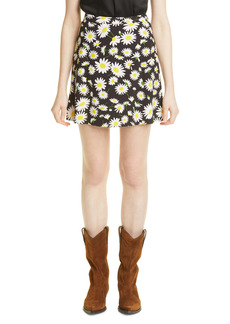 Saint Laurent Floral Print Skirt