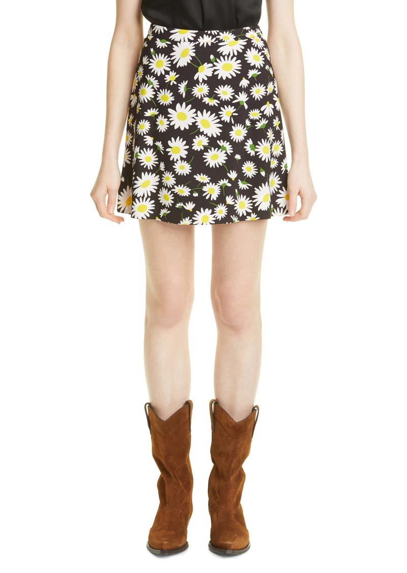 Saint Laurent Floral Print Skirt