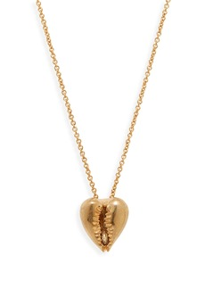 Saint Laurent Heart Pendant Necklace