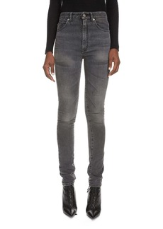 Saint Laurent High Waist Skinny Jeans