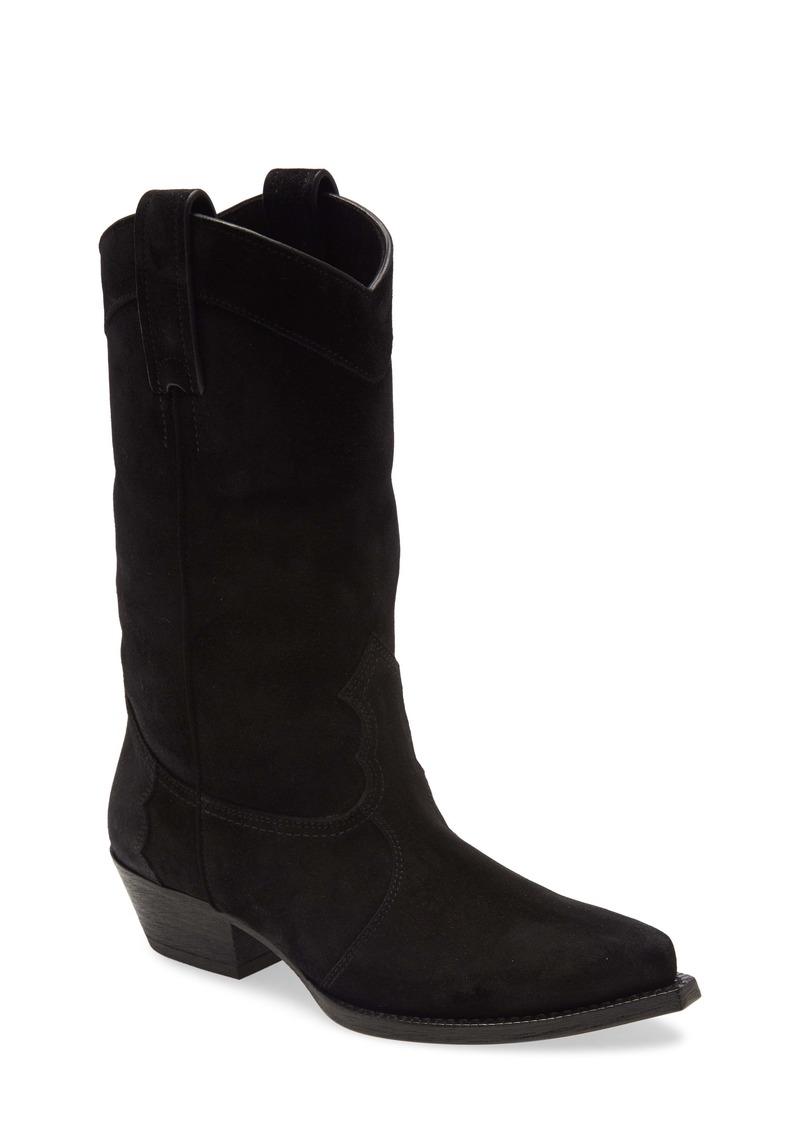 Saint Laurent Houston Suede Cowboy Boot (Women)