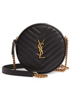 Saint Laurent Vinyle Matelassé Leather Crossbody Bag