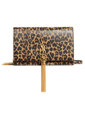 Saint Laurent Kate Leopard Heart Print Leather Crossbody Bag
