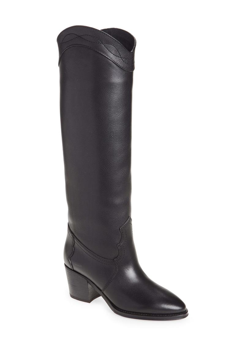 Saint Laurent Kate Western Knee High Boot (Women)