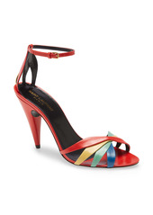 Saint Laurent Kristen Rainbow Ankle Strap Sandal (Women)