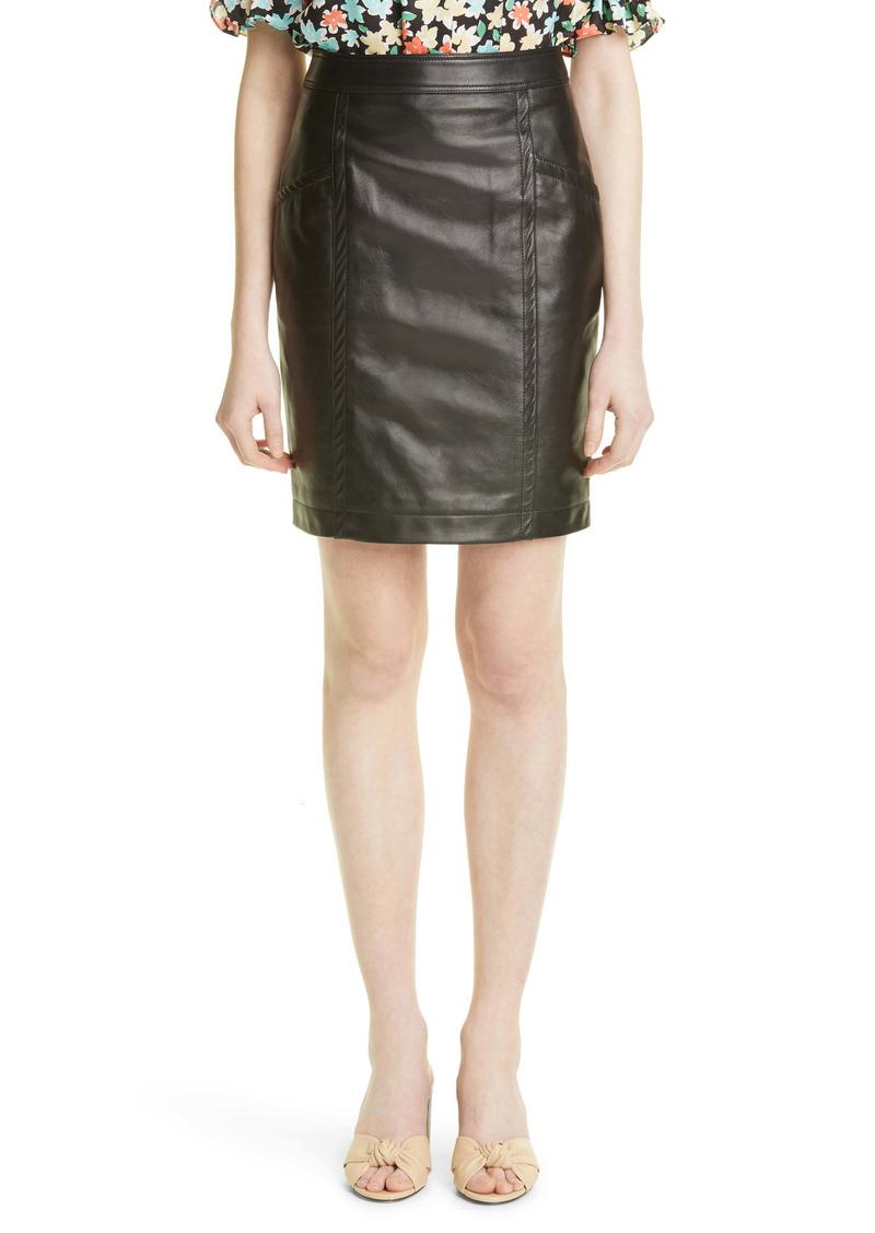 Saint Laurent Lambskin Leather Skirt