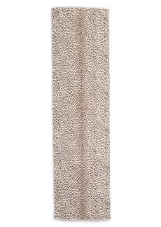 Saint Laurent Leopard Print Cashmere & Silk Scarf