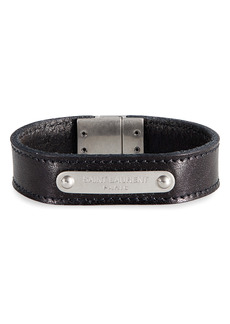 Saint Laurent Logo ID Leather Bracelet