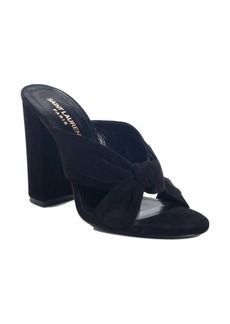 Saint Laurent Loulou Knot Slide Sandal (Women)