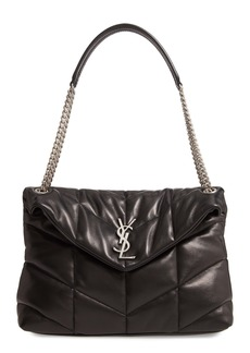 Saint Laurent Medium Lou Leather Puffer Bag