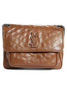 Saint Laurent Medium Niki Crinkled Matelassé Leather Shoulder Bag