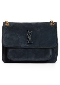Saint Laurent Medium Niki Suede Shoulder Bag