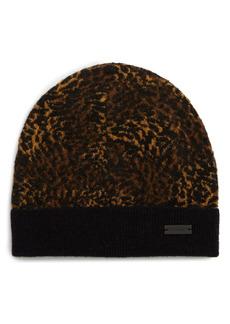 Saint Laurent Metallic Leopard Pattern Beanie