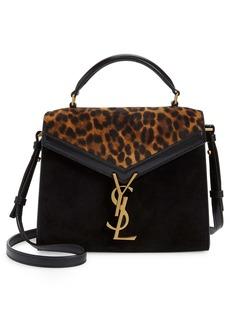Saint Laurent Mini Cassandre Leather Shoulder Bag