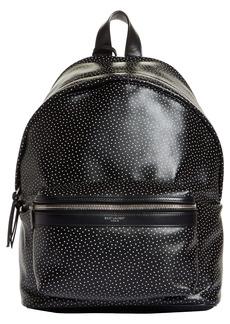 Saint Laurent Mini City Dot Print Leather Backpack