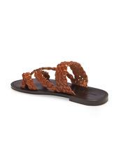 Saint Laurent Neil Braided Toe Loop Sandal (Women)