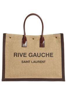 Saint Laurent Noe Rive Gauche Logo Canvas Tote