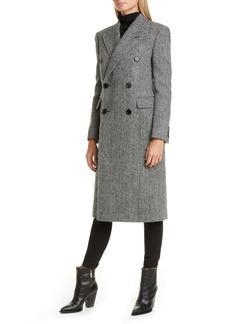 Saint Laurent Notch Collar Wool Coat