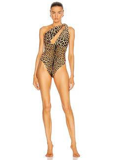 Saint Laurent One Shoulder One Piece Swimsuit