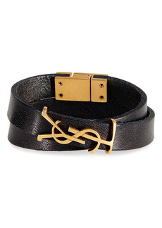 Saint Laurent Opyum YSL Double Wrap Bracelet