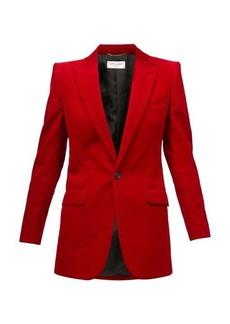 Saint Laurent Peak-lapel cotton-corduroy jacket
