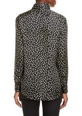 Saint Laurent Polka Dot Silk Crêpe de Chine Shirt
