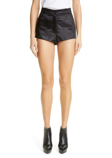 Saint Laurent Satin Mini Shorts