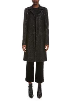 Saint Laurent Sequin Trench Coat