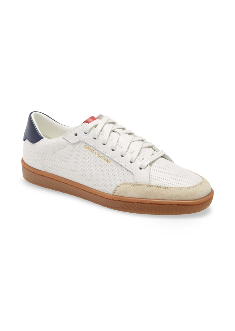 Saint Laurent SL/10 Perforated Low Top Sneaker (Women)