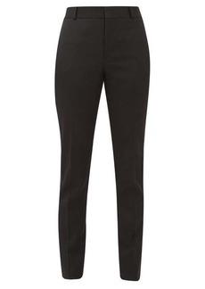 Saint Laurent Slim-cut wool-crepe tuxedo trousers