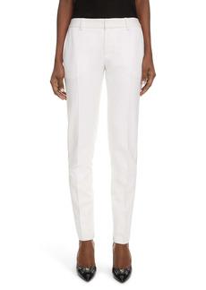 Saint Laurent Slit Skinny Wool Trousers