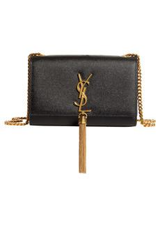 Saint Laurent Small Kate Textured Suede Shoulder Bag
