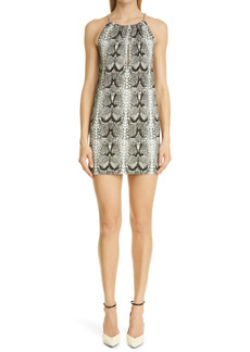 Saint Laurent Snake Print Knit Minidress
