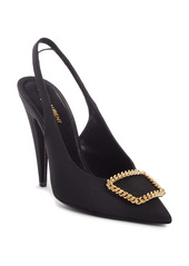 Saint Laurent St. Sulpice Slingback Pointed Toe Pump (Women)