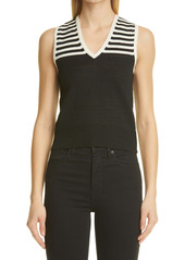 Saint Laurent Stripe Knit Shell