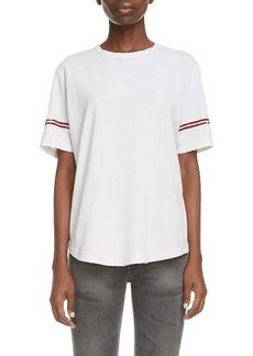 Saint Laurent Stripe Sleeve T-Shirt