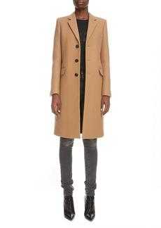 Saint Laurent Three-Quarter Cashmere Coat