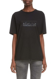 Saint Laurent Tonal Logo Graphic Tee