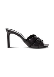 Saint Laurent Tribute Sandals In Black Leather