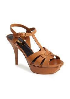 Saint Laurent Tribute T-Strap Platform Sandal (Women)