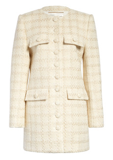 Saint Laurent Wool & Silk Blend Tweed Jacket