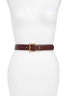 Saint Laurent YSL Logo Leather Belt