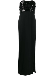 Saint Laurent sequin-embellished evening gown