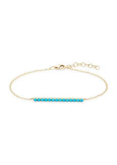 Saks Fifth Avenue 14K Yellow Gold & Composite Turquoise Bracelet
