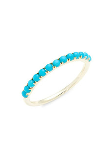 Saks Fifth Avenue 14K Yellow Gold & Composite Turquoise Ring/Size 7