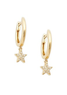 Saks Fifth Avenue 14K Yellow Gold & Diamond Star Drop Earrings