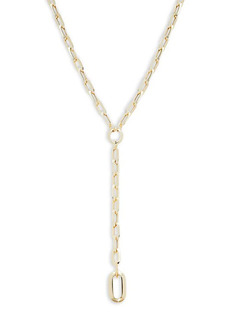 Saks Fifth Avenue 14K Yellow Gold Paperclip Lariat Chain Necklace
