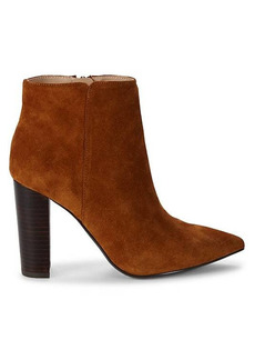 Saks Fifth Avenue Annie Stacked Heel Booties