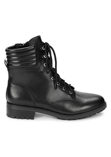 Saks Fifth Avenue Lace-Up Leather Combat Boots