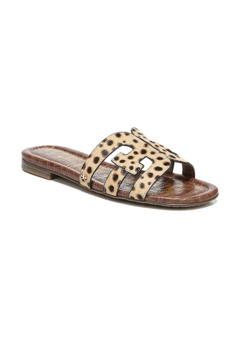 Sam Edelman Bay Genuine Calf Hair Cutout Slide Sandal (Women)